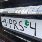 Auto met 'artistiek' nummerbord onderschept in Noord-Spanje